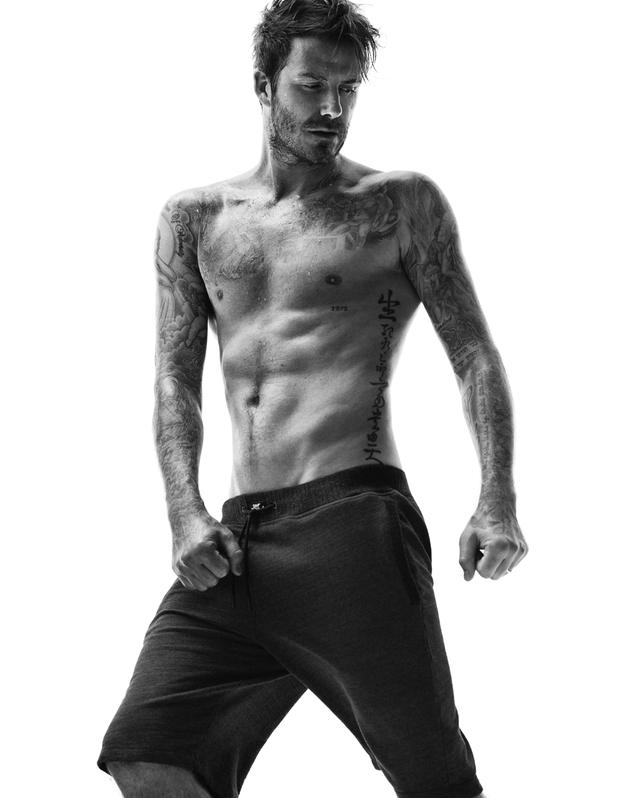 David Beckham models his new H&M Bodywear autumn 2014 collection - 2 July 2014