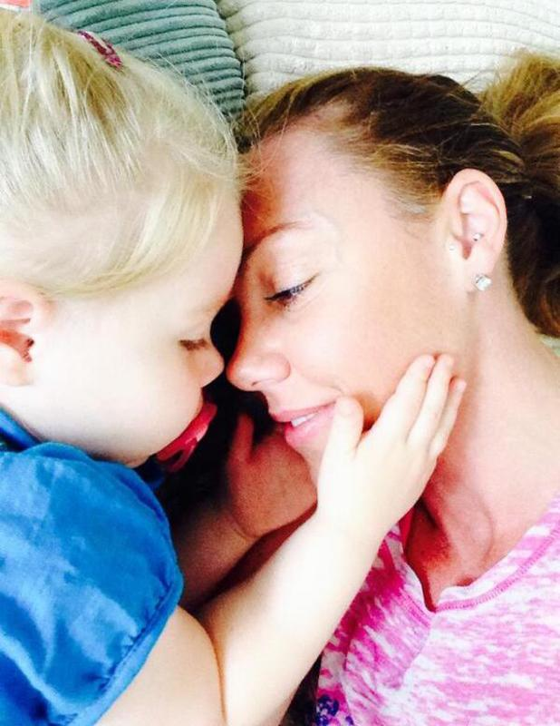 Michelle Heaton shares cute pic of her daughter Faith, July 2014