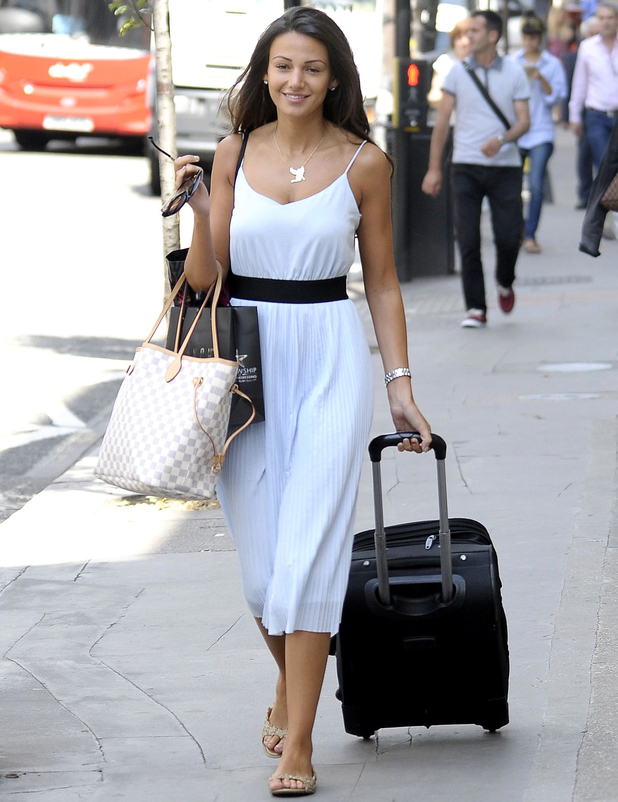 Michelle Keegan out and about before Lipsy launch, London, Britain - 02 Jul 2014