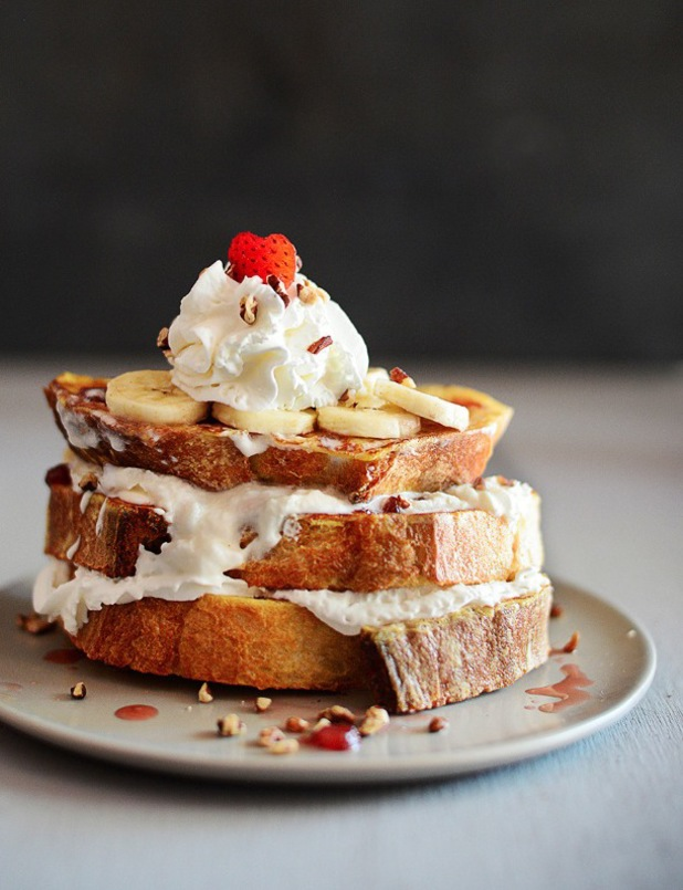 ana frias banana split french toast