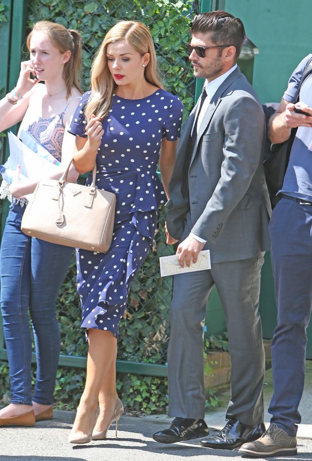 Katherine Jenkins and Andrew Levitas attend Wimbledon 2014 07/01/2014 London, United Kingdom