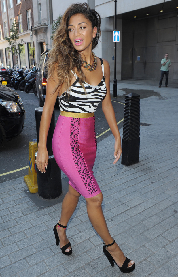 Nicole Sherzinger outside BBC Radio1 07/03/2014 London, United Kingdom