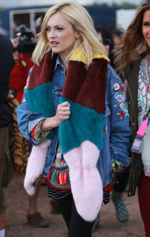 Fearne cotton rocks floral print trousers after