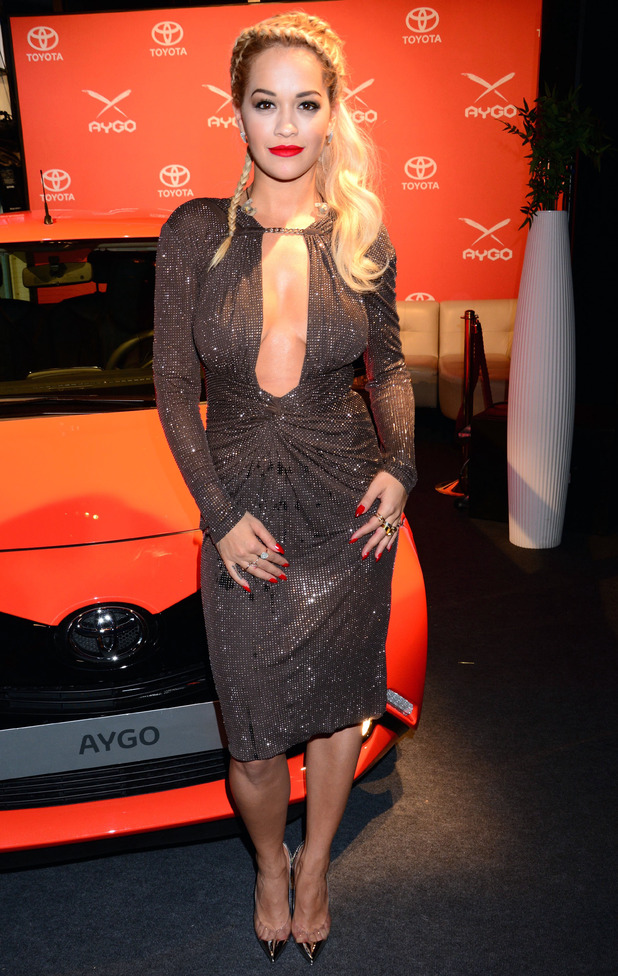 Rita Ora at the Toyota Aygo premiere at Pearl Club. 07/02/2014 Berlin, Germany