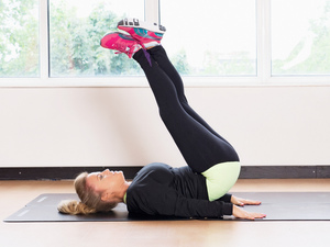 Reverse curl ab toning exercise