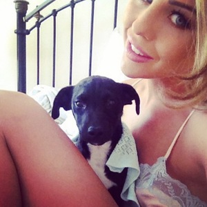 Lydia Bright and her puppy Paddy, Instagram, 8 July