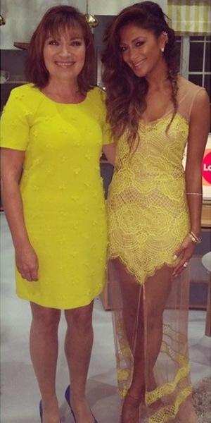 Nicole Scherzinger and Lorraine Kelly, ITV, 8 July