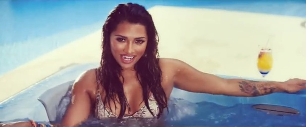 Vanessa White in the music video for The Saturdays' 'What Are You Waiting For?' - July 2014