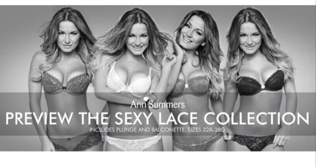 Sam Faiers poses as the new face of Ann Summer's autumn/winter '14 collection - 8 July 2014