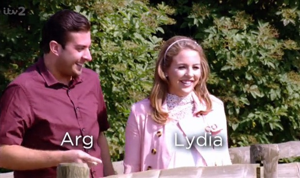 Lydia Bright and James 'Arg' Argent flirt while visiting Mr Darcy - 7 July 2014
