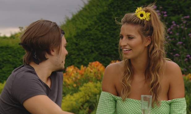 TOWIE: Ferne McCann enjoys a picnic with Charlie Sims as a peace offering. 9 July.