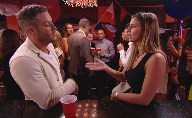 TOWIE: Elliott Wright and Ferne McCann come to blows. 9 July.