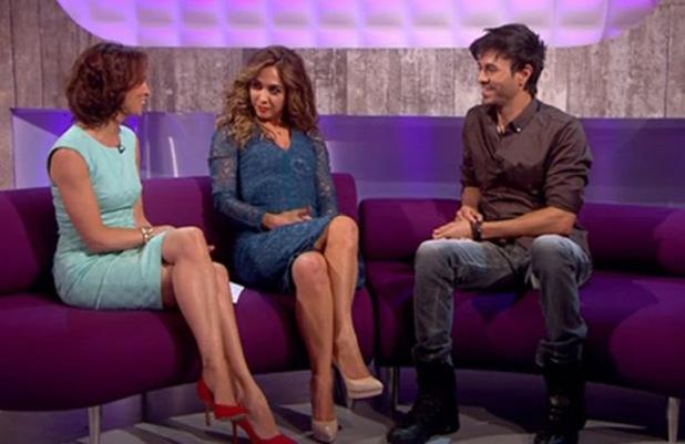 Enrique Iglesias on Loose Women, ITV, London, 10 July