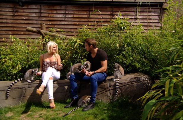 TOWIE preview: James 'Lockie' Lock takes Danielle Armstrong on date at the zoo. Airs: 13th July 2014.