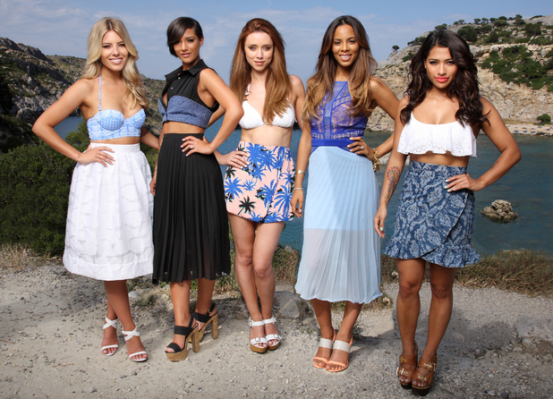 The Saturdays on location for new music video, Greece, June