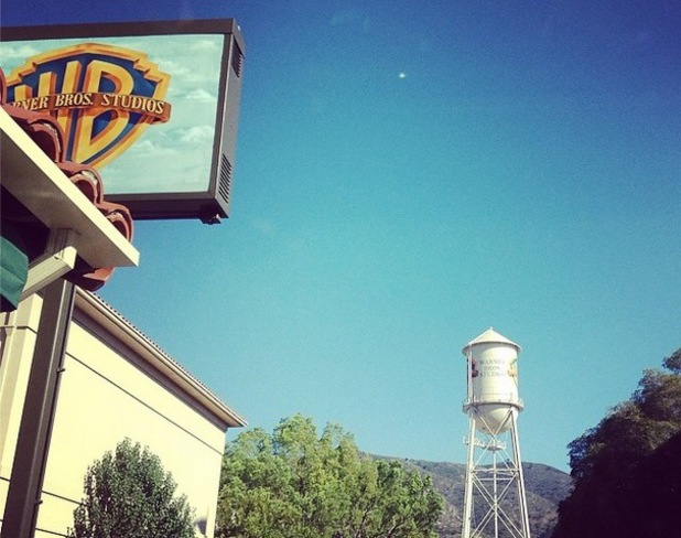 Kelly Brooks shares photo of Warner Brothers Studio, LA, Instagram, 10 July
