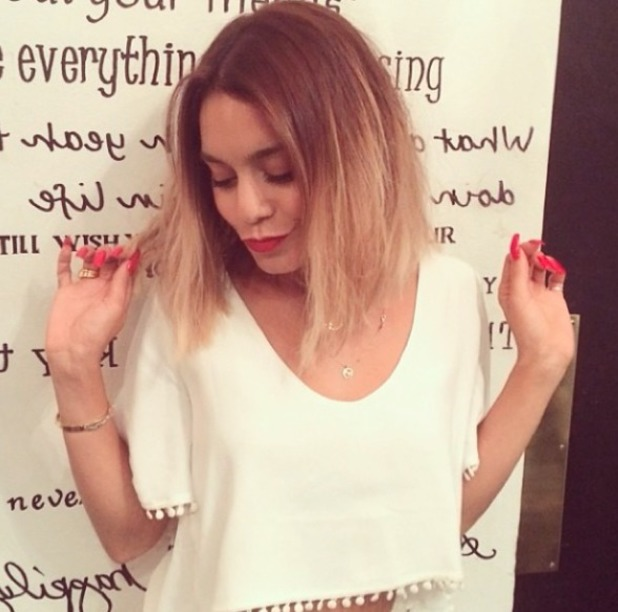 Vanessa Hudgens has her long hair chopped off into a cute, shoulder-length bob, 9 July 2014