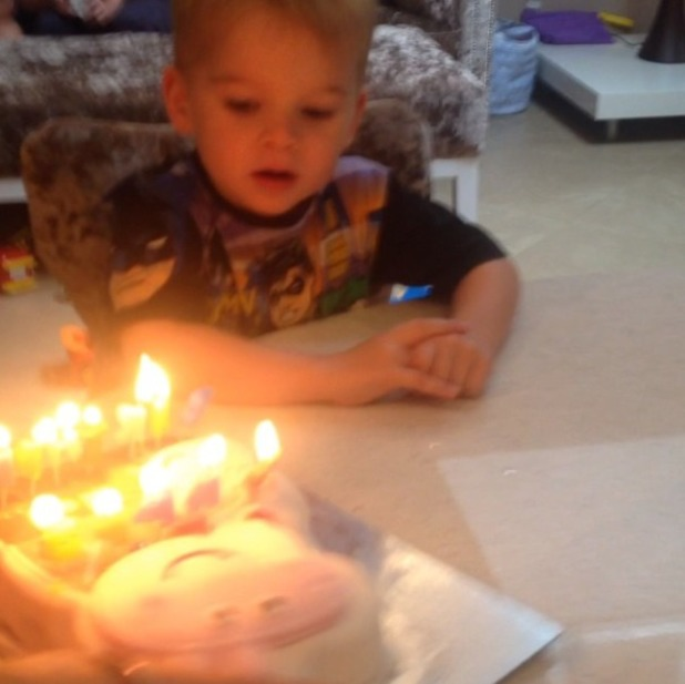 Danielle Lloyd's sons Archie and Harry celebrate their birthdays at joint bash, 13.7.14