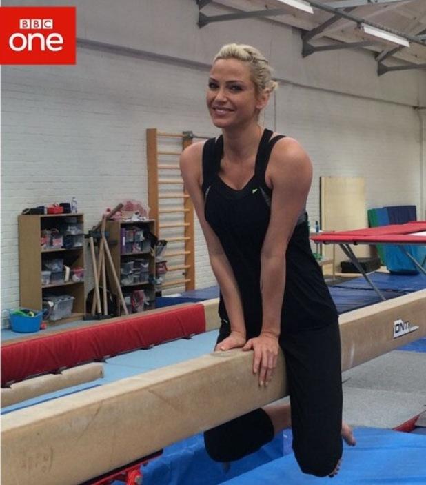 Sarah Harding trains for BBC1's Tumble - 10 July 2014