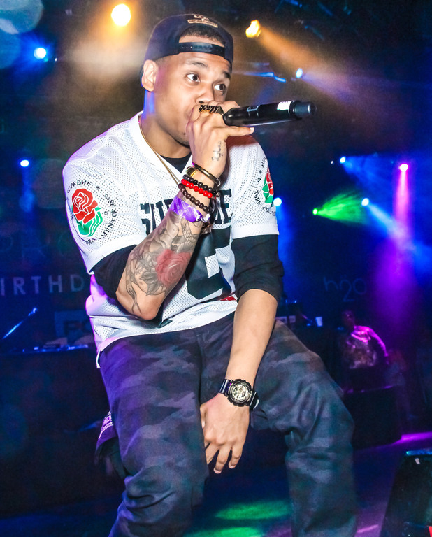 Mack Wilds at the Power 105.1 DJ Prostyle's Birthday Bash held at the Best Buy Theatre 04/30/2014 New York City, United States