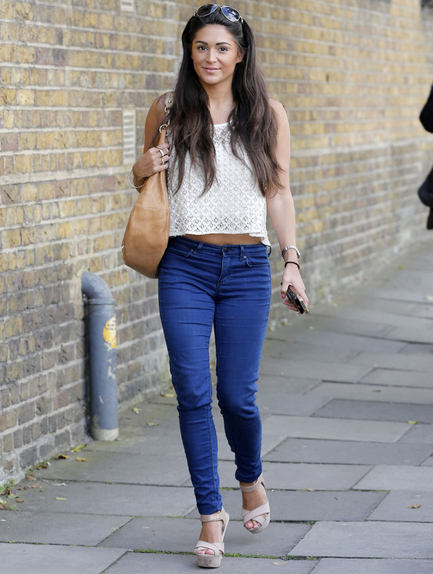 Casey Batchelor out and about, London, Britain - 07 Jul 2014