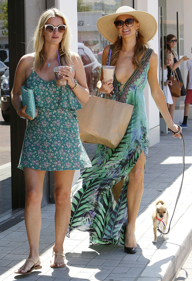 Paris Hilton, Nicky Hilton and Peter Pan go shopping in Malibu, America - 7 July 2014