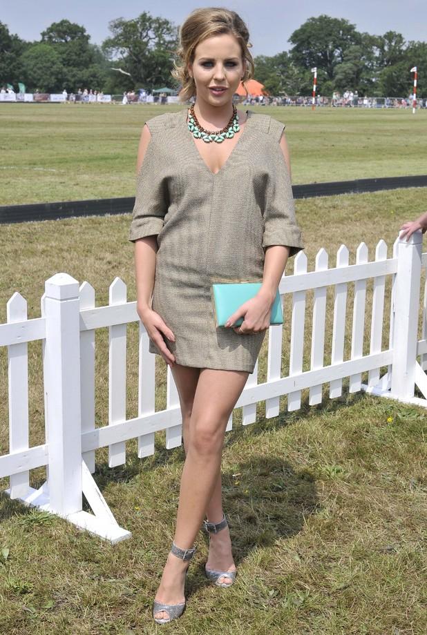 Lydia Bright attends the Duke of Essex Polo Grand Prix Day 1, Hylands Park, Chelmsford, Britain - 12 Jul 2014