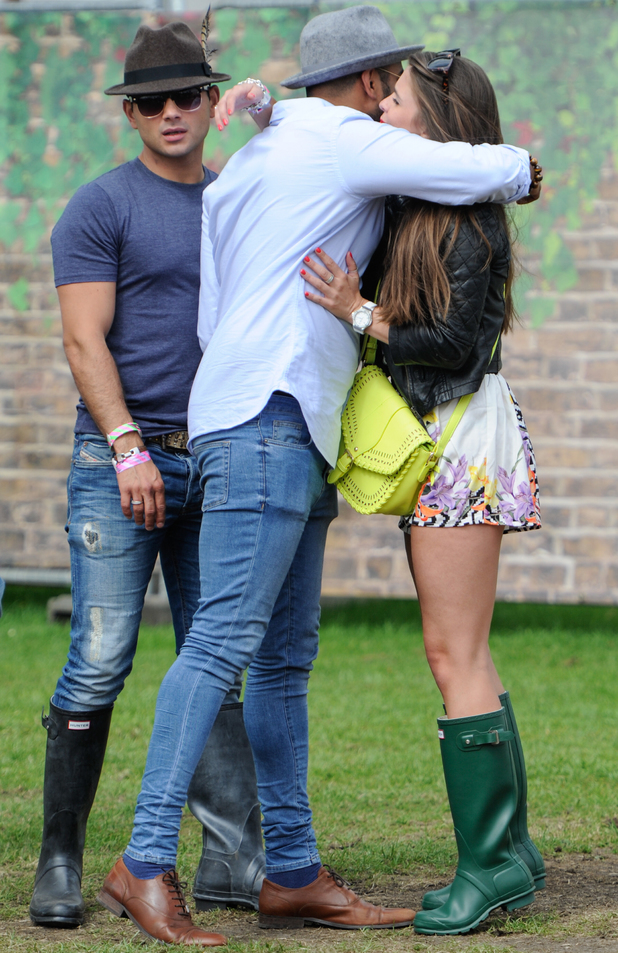 Brooke Vincent and Ryan Thomas meet each other at Wireless Festival 2014, Birmingham,  - 6 July 2014