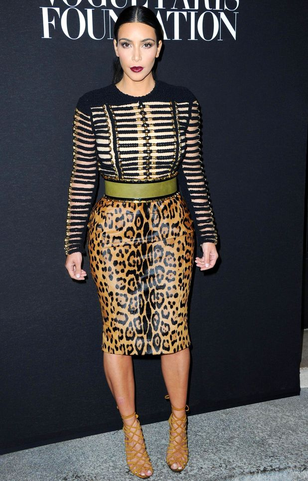 Kim Kardashian at the Vogue Foundation Gala, Haute Couture Fall Winter 2014, Paris Fashion Week, France - 09 Jul 2014