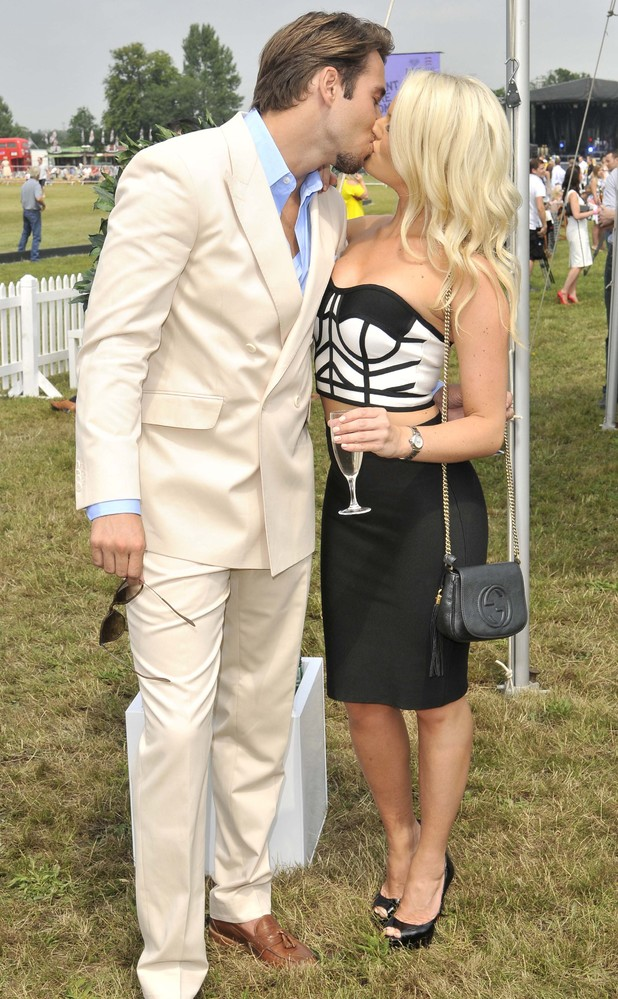 James Lock and Danielle Armstrong attend the Duke of Essex Polo Grand Prix Day 1, Hylands Park, Chelmsford - 12 Jul 2014