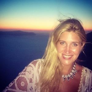 Cheska Hull and boyfriend on romantic holiday in Santorini, Greece, 14 July