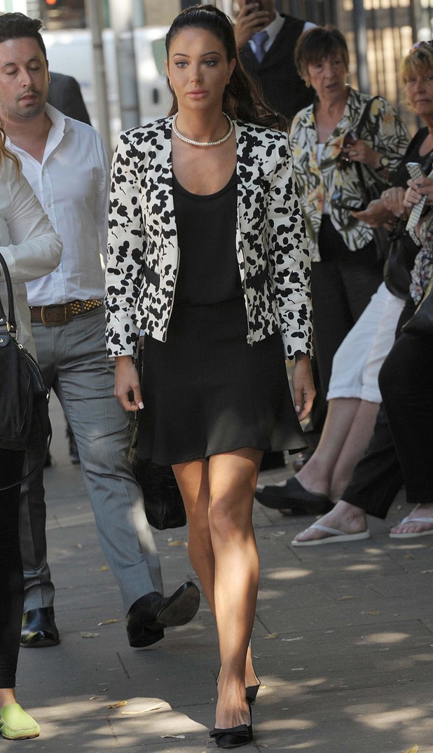 Tulisa Contostavlos arriving at Southwark Crown Court for drugs trial - 16 July 2014