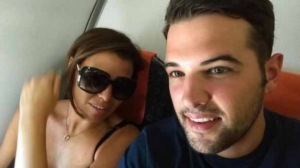 TOWIE's Jessica Wright and Ricky Rayment take selfie on a plane en route to Alicante - 16 July.