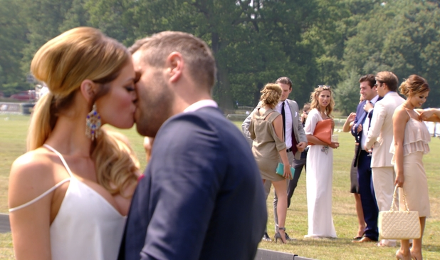 TOWIE heads to the polo - Chloe and Charlie Sims talks after Chloe kisses Elliott Wright in front of Ferne McCann - 16 July 2014