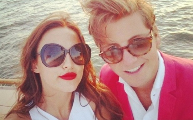 Lucy Watson and Stevie Johnson, Made In Chelsea, New York, 18 July