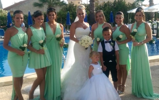 Leah Wright at her wedding in Alicante, Spain - 18 July 2014