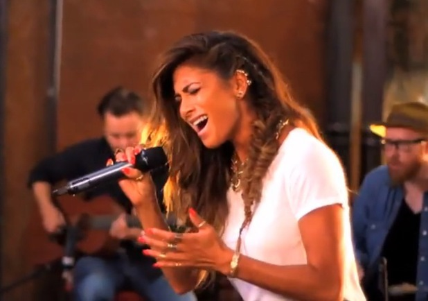 Nicole Scherzinger shows off her flawless vocals in a new acoustic video of 'Your Love' - 17 July 2014.