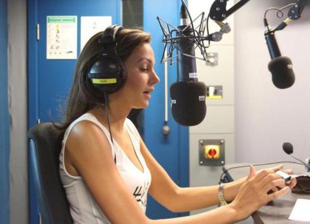 Michelle Keegan pranks Coronation Street star Brooke Vincent with Nick Grimshaw on BBC Radio 1's Breakfast Show (16 July).