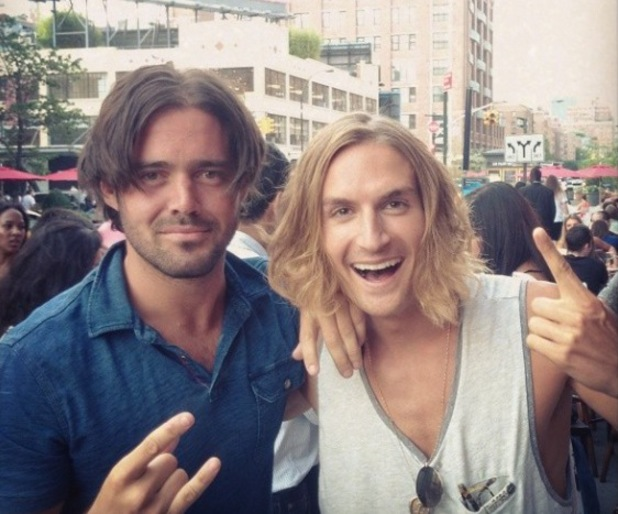 Made In Chelsea's Spencer Matthews and Oliver Proudlock 'let their hair down' in New York. 12 July.