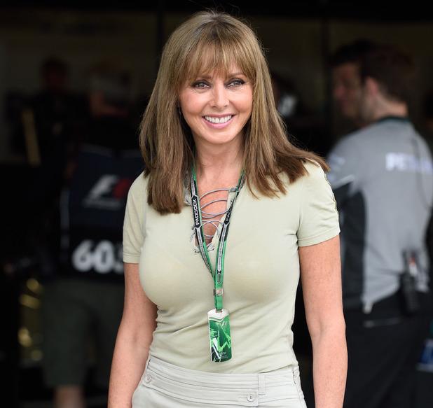 Carol Vorderman at Silverstone F1 Grand Prix, qualifying race 07/05/2014 Northampton, United Kingdom
