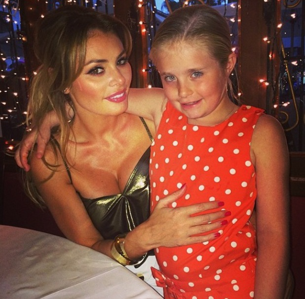 TOWIE's Chloe Sims and daughter Madison pose for a picture in Alicante - 17 July 2014