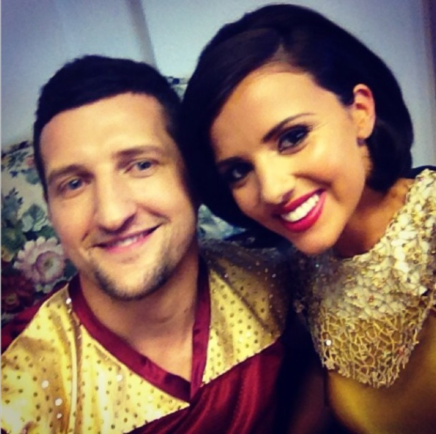 Lucy Mecklenburgh and Carl Froch film Tumble advert together -  14 July 2014