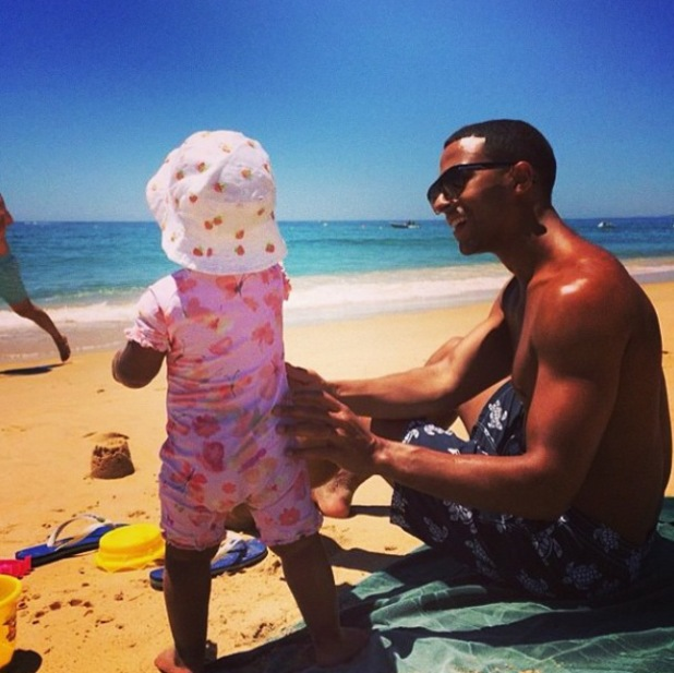 Rochelle and Marvin Humes share holiday pictures from their beach break - 16 July 2014