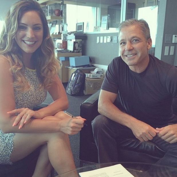 Kelly Brook announces Skechers contract on Instagram, 10 July