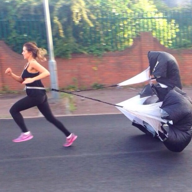 Helen Flanagan during personal workout session, 17 July 2014