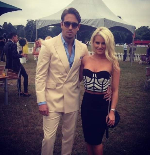 James Lock and Danielle Armstrong attend the Duke of Essex Polo Grand Prix Day 1, Hylands Park, Chelmsford, Britain - 13 July 2014