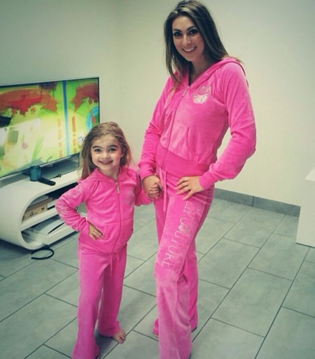 Luisa Zissman and daughter Dixie in matching tracksuits, Instagram, 14 July