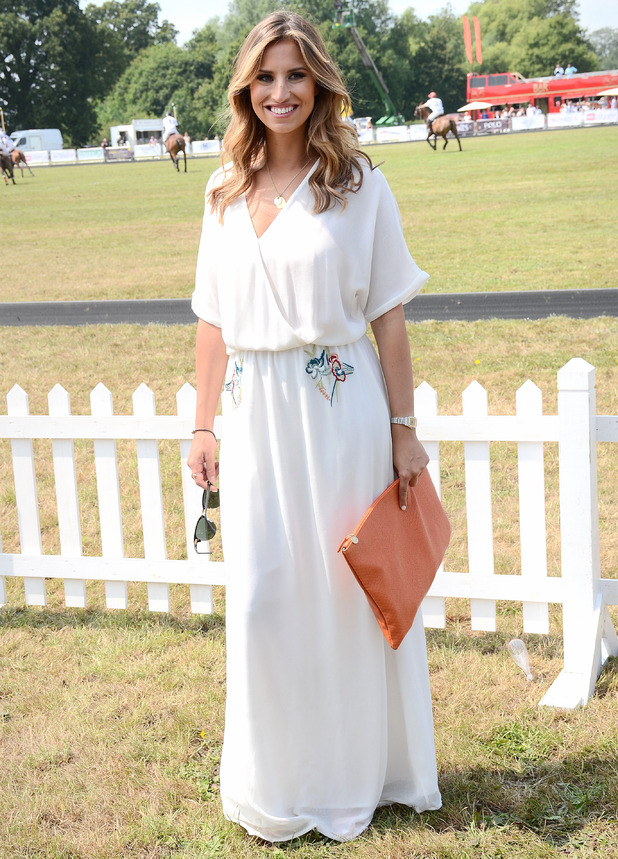 TOWIE's Ferne McCann attends the Duke of Essex Polo Grand Prix in Hylands Park, Chelmsford - 12 July 2014