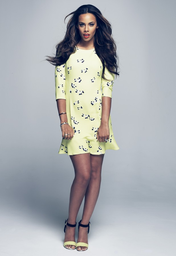 The Saturdays' Rochelle Humes models her summer 2014 clothing collection for Very.co.uk - July 2014