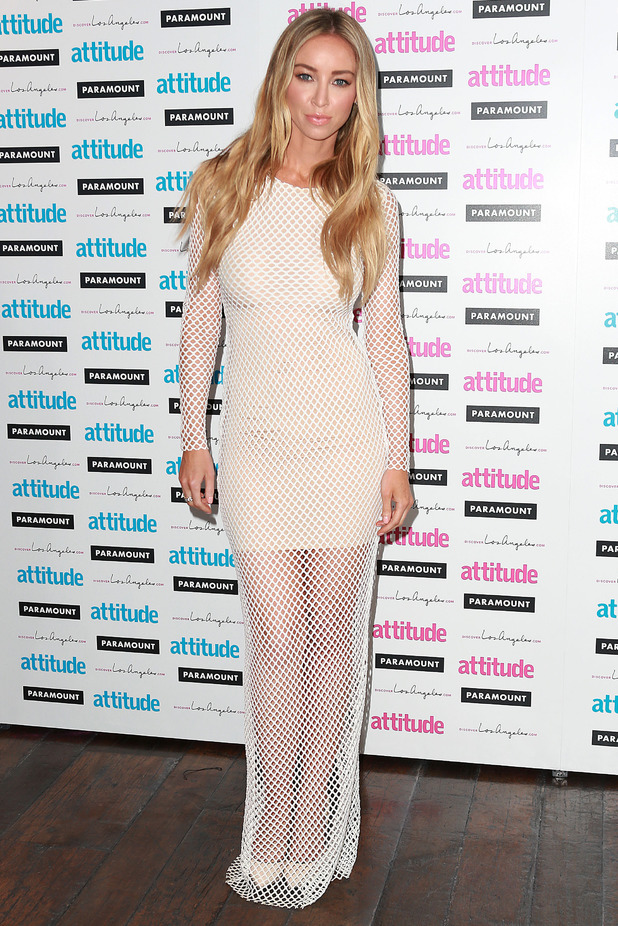 TOWIE's Lauren Pope steps out at the Attitude Hot 100 Party in London, England - 16 July 2014